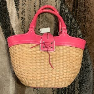 Coach Bags - Coach wicker and pink leather handbag